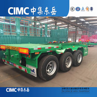 CIMC Dongyue 45ft Yard Chassis Bomb Cart Two Or Three Axles Trailer