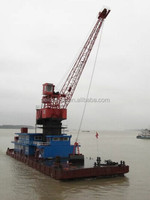 30T used floating crane used crane barge