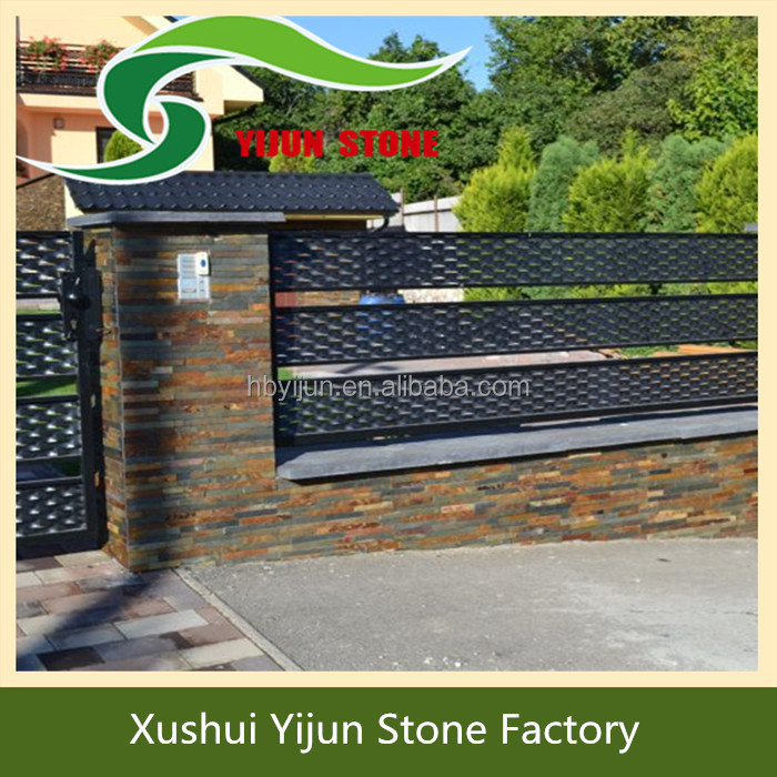 Popular Chinese Rustic Fence Deco Stone Design