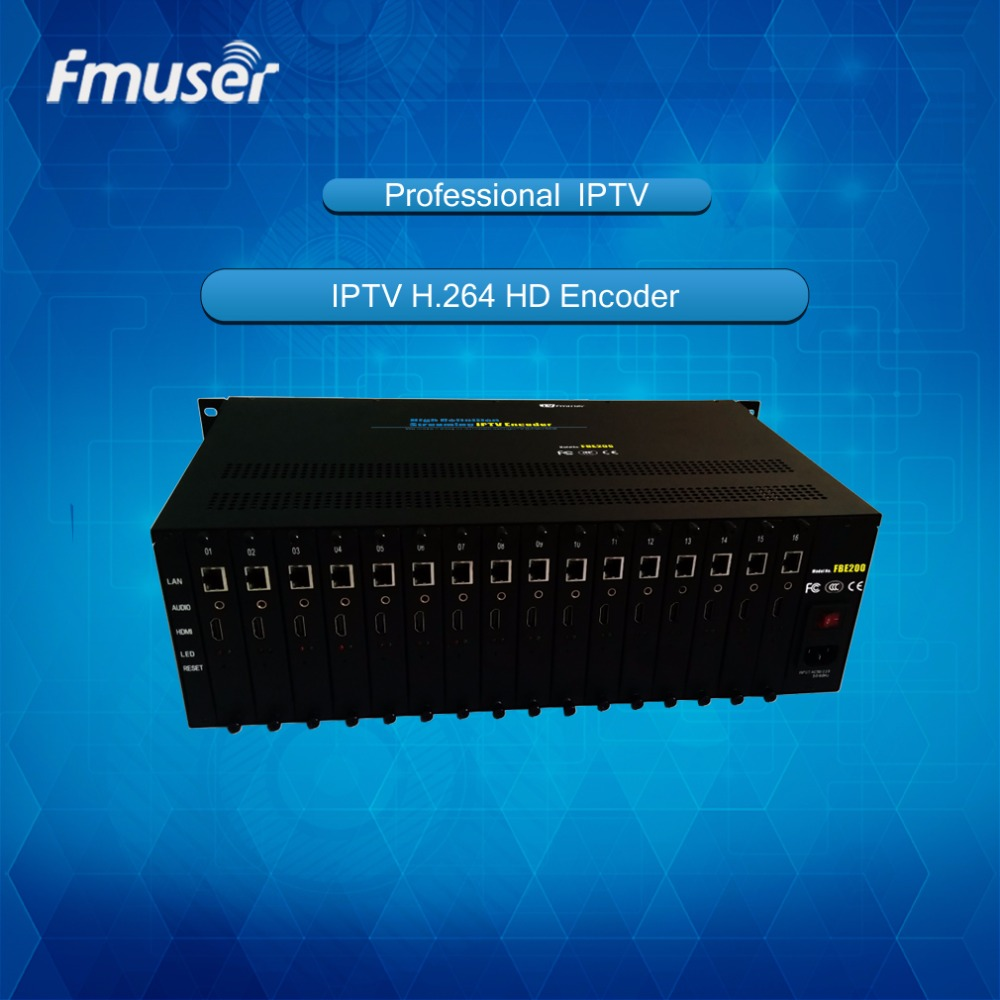 <strong>16</strong> in 1 FMUSER H.264 High Definition HD IPTV Streaming Encoder--FBE216-H.264