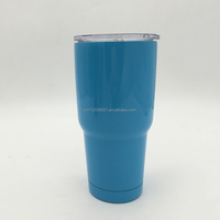 Hot selling 30oz stainless steel double wall insulated personalized bosses powder coated tumbler with slide lid and straw
