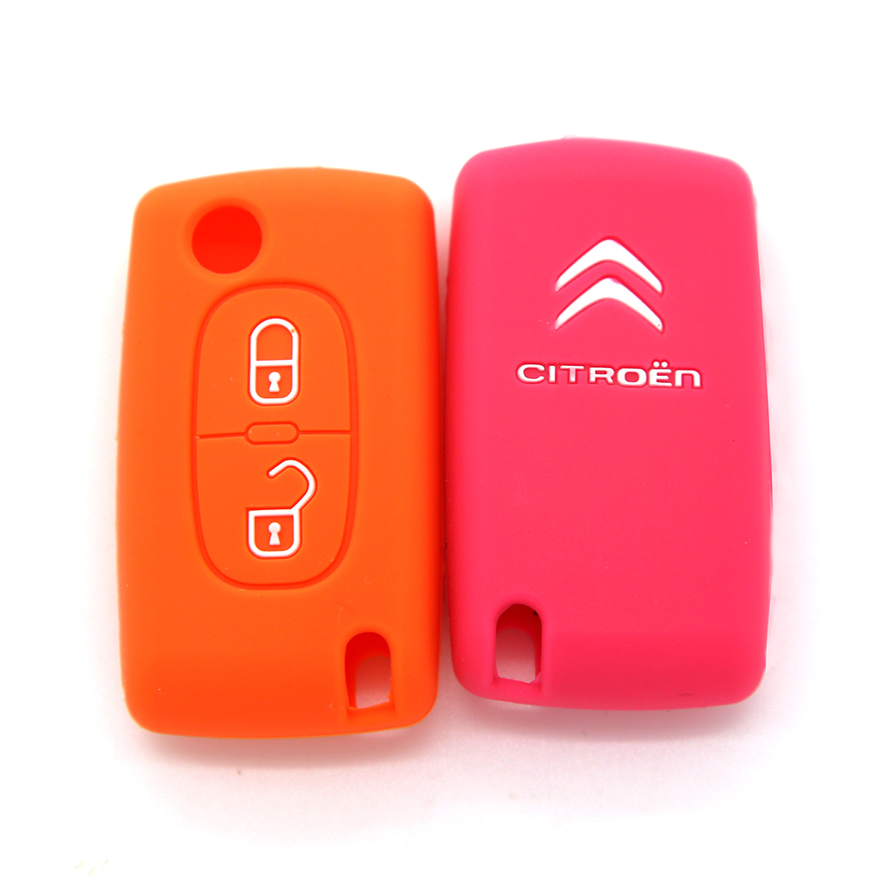 High Quality silicone car key case car key cover for citroen series