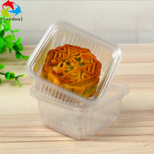 Disposable Clear Plastic Cookie / Moon Cake Tray Packaging