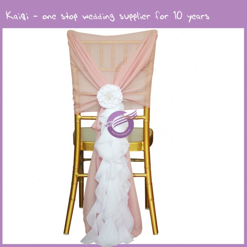 #19869 chiffon hood and organza chair cover for wedding party