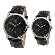 MOQ 500 /leather band /water resistant /charm fashion couple watch