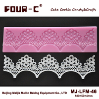 FOUR-C Lace Silicone Mat Cake Decor Pad Cake Decoration