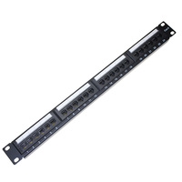 CAT6 UTP Patch Panel 24 Ports Krone IDC