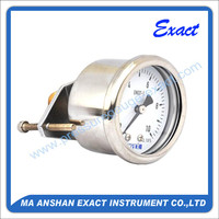 Exact High Quality bourdon tube Liquid Filled Pressure Gauge with U-clamp