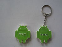Small humanoid shape PVC key chain