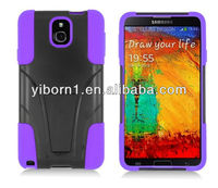 BLACK&PURPLE T-Stand Hybrid Case for Samsung Galaxy Note 3 III N9000 N9005