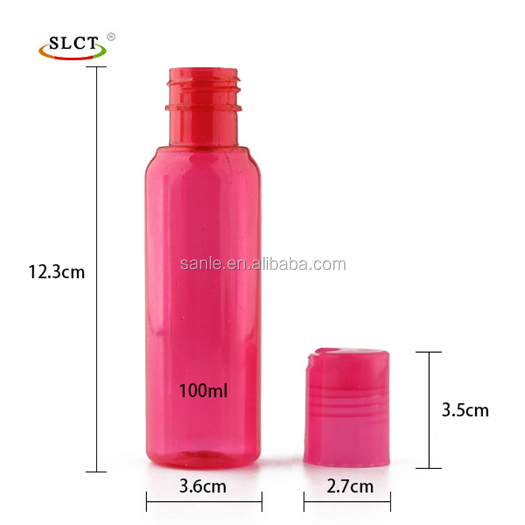 Plastic PET lotion bottle with disc cap