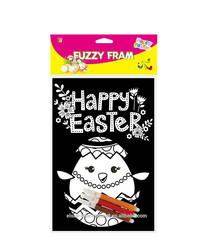 kids DIY creative DIY Easter Fuzzy poster / Wholesale Black Velvet Coloring Posters