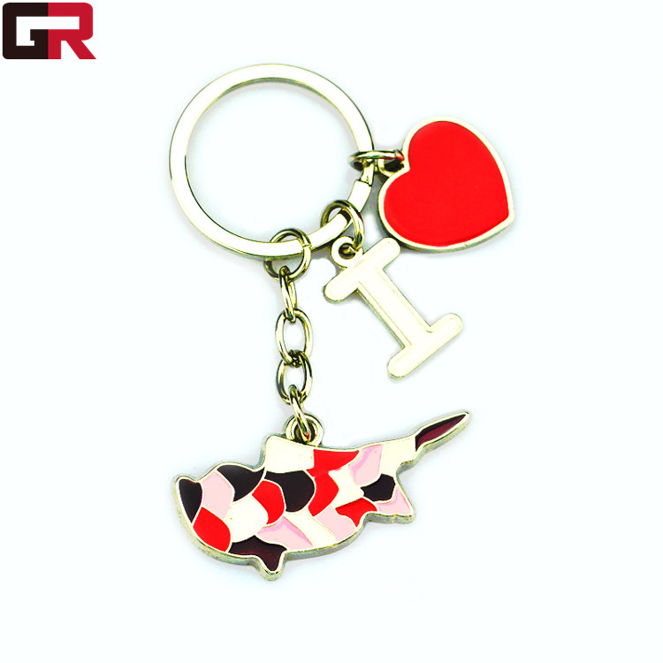 Wholesale Personalised Metal Custom Promotion Gift Keyring For Travel Souvenir
