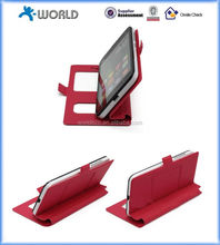 2014 Universal Leather Case for Mobile Phone with Double Window and Stand