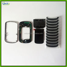 For Blackberry Bold 9900 9930 full Keyboard black,back cover,U cover replacement