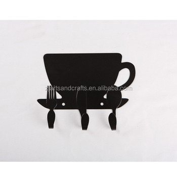 Metal Kitchen Wall-mounted Cup Shape Hooks Kitchen Towel Hanger