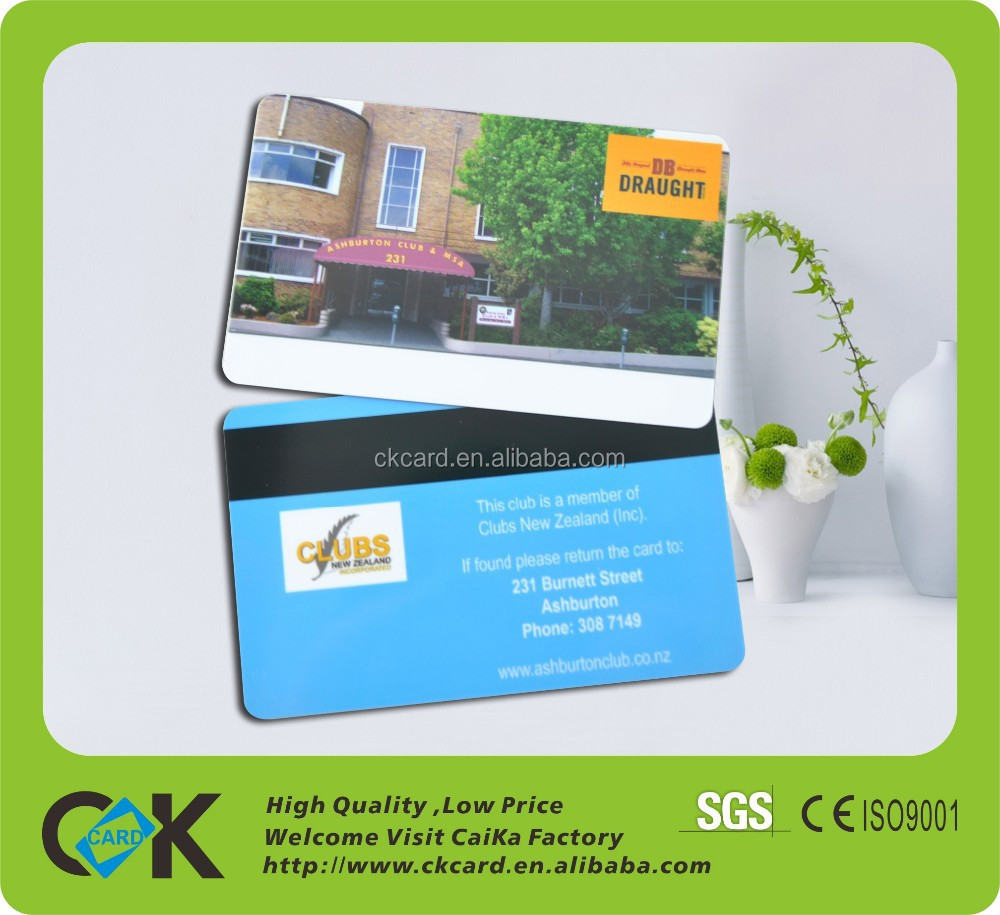 PVC VIP Card with signature panel,glossy front and back side