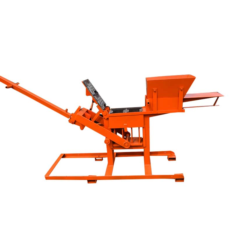 Manual type interlock clay block making machine