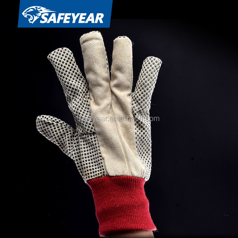 Cotton canvas dot glove (FL-5519)
