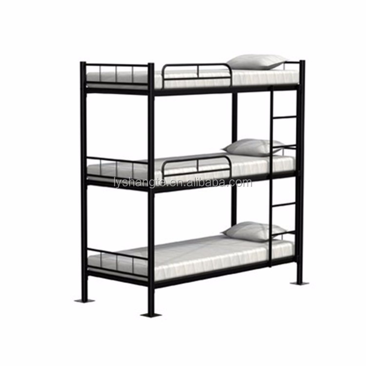 2017 cheap metal adult 3 tier triple bunk beds sale for adults