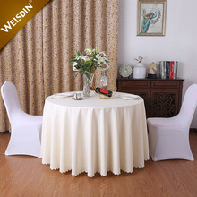 Wholesale round colorful elegant plain wedding table linens and tablecloth