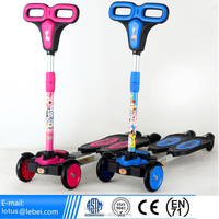 Hot Selling EN 71 CE Approval New Smart Kids Standing 4 Wheels Balance tri scooter