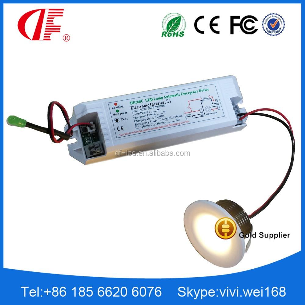 Led Recessed Lighting With Emergency Backup : W led emergency downlamp light mini
