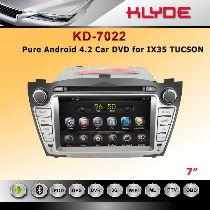 Android 4.2.2 system car dvd for TUCSON / IX35 2009-2012