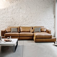 modern style leather sofa set for living room