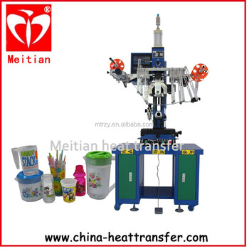MT1830N logo heat transfer machine for round product Factory sale /100 set per day
