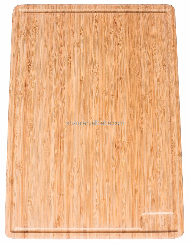 Wholesale Extra Large Bamboo Cutting Board and Serving Tray with Drip Groove