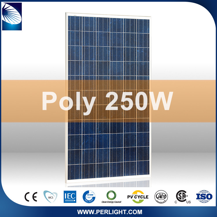 Ce Approved Cheap Promotional Portable Compact 250W Polycrystalline Solar Panel
