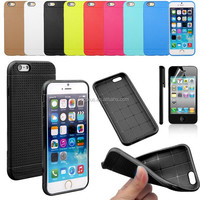 Fashion Cool TPU+Silicone Gel Soft Back Case Cover For iPhone 6 Plus 5.5""