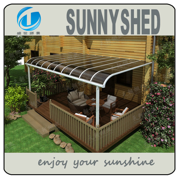 Aluminum terrace canopy with polycarbonate roof buy for Terrace gazebo