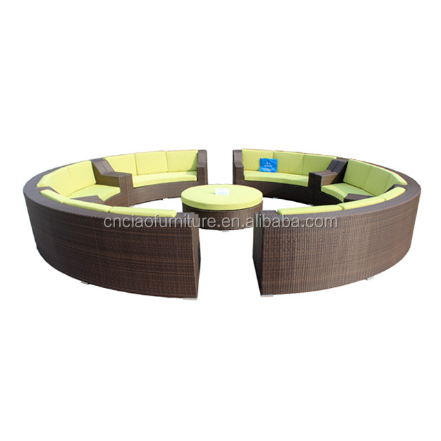 New Design Wicker Modern Outdoor Round Sofa