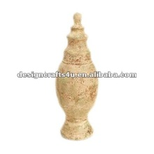 copper finish resin finials for bed or curtain