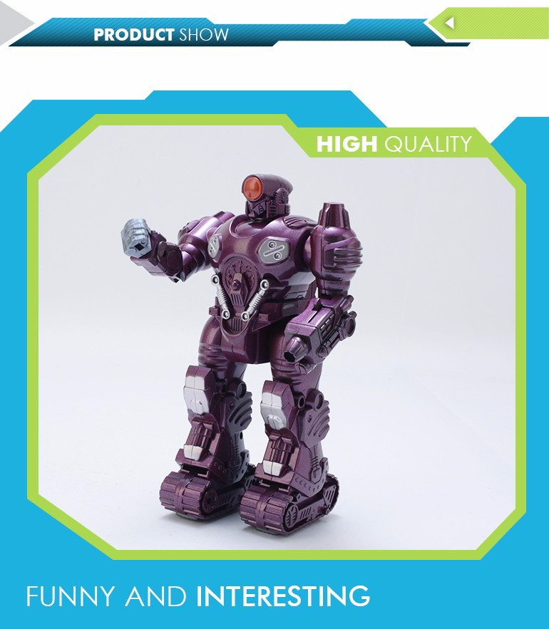 Hot funny kids smart plastic purple electronic toy diy robot kit for wholesale