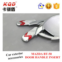 * ABS 3D DOOR HANDLE INSERT CHROMED ACCESSORIES FOR MAZDA BT50 ACCESSORIES