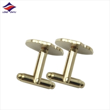 Tailor made blank cufflink Stainless Steel Cufflinks Blanks