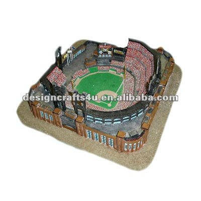 customized decorative polyresin 3d souvnir model stadium