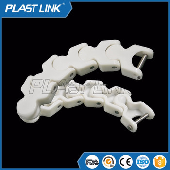 Plast Link Plastic slat conveyor chain for milk production line