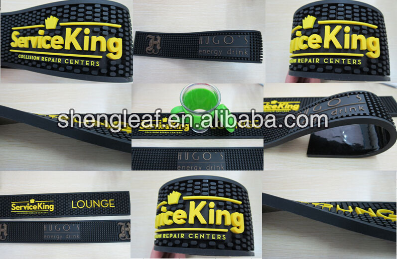Newest design with 1 inch thick rubber bar mat