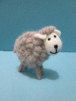 new handmade craft wool felt wedding decor sheep