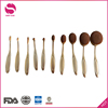 Senos Lady Girl's Professional Cosmetic Tools 10pcs Private Label Oval Make Up Brush Set