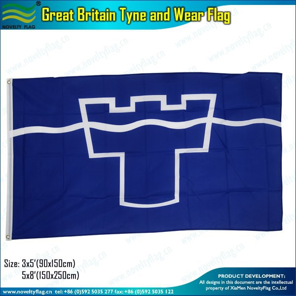3x5ft 100D polyester Great Britain Tyne and Wear Flag