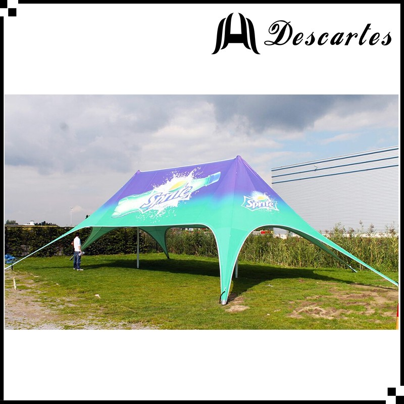 Digital printing 19x12m double pole star marquee/used party tents for sale