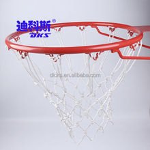 Pure Color PP Basketball Nets,White 12 Hooks Chain Basketball Nets