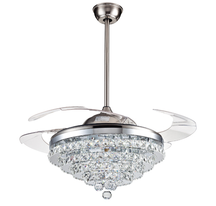 remote control ceiling fan with crystal led light