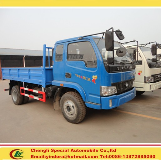 New design yuejin 4x2 small cargo transport delivery truck