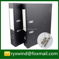Recycle plastic hard cover A4 box lever arch file 2 ring file folder for office